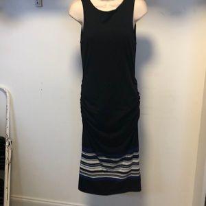 NWT Athleta black midi ruched tank dress